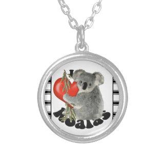 I Liebe-Koala Halskette Mit Rundem Anhänger