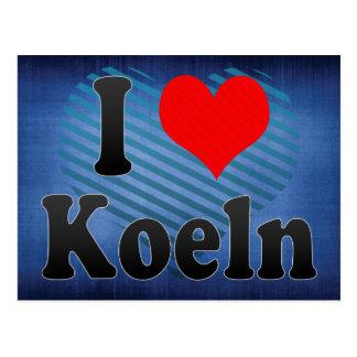 I Liebe Koeln, Deutschland Postkarte