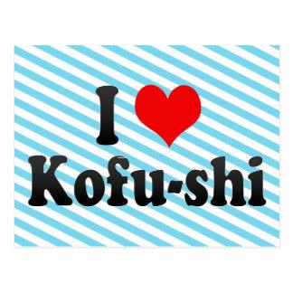 I Liebe Kofu-shi, Japan. Aisuru Kofu-Shi, Japan Postkarte