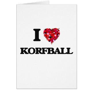 I Liebe Korfball Karte
