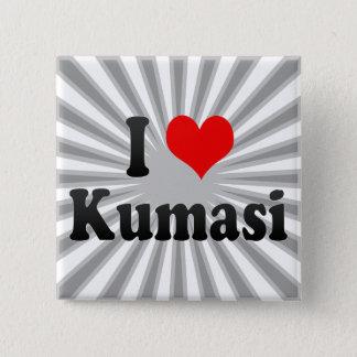 I Liebe Kumasi, Ghana Quadratischer Button 5,1 Cm