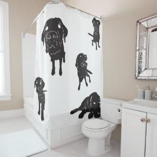 I Liebe-Labrador-Duschvorhang Duschvorhang