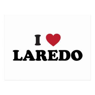 I Liebe Laredo Texas Postkarte