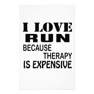 I Liebe laufen gelassen, weil Therapie teuer ist Briefpapier