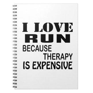 I Liebe laufen gelassen, weil Therapie teuer ist Notizblock