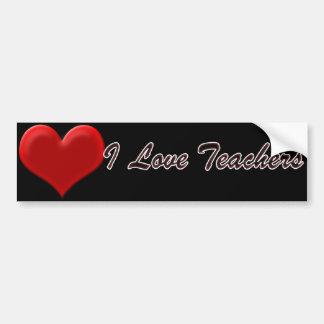 I Liebe-Lehrer Autoaufkleber