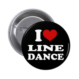 I Liebe-Linie Tanz Runder Button 5,7 Cm