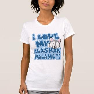I Liebe mein alaskischer Malamute-T - Shirt