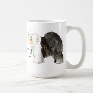 I Liebe mein alter englischer Schäferhund Kaffeetasse