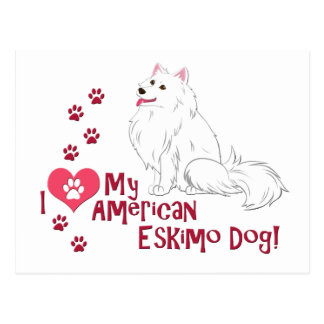 I Liebe mein amerikanischer Eskimohund! Postkarte
