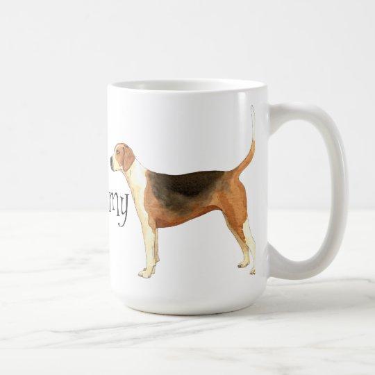 I Liebe mein amerikanischer Foxhound Kaffeetasse