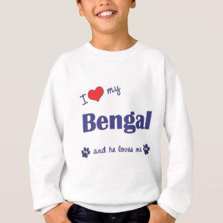 I Liebe mein bengalisches (männliche Katze) Sweatshirt