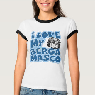 I Liebe mein Bergamasco Damen-Wecker-T - Shirt