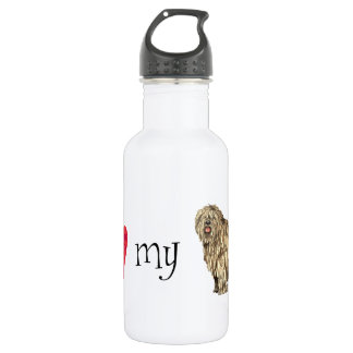 I Liebe mein Bergamasco Trinkflasche