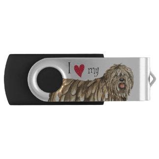 I Liebe mein Bergamasco USB Stick