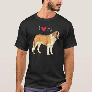 I Liebe mein Bernhardiner T-Shirt