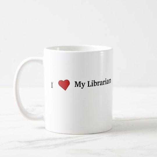 I Liebe mein Bibliothekar Kaffeetasse