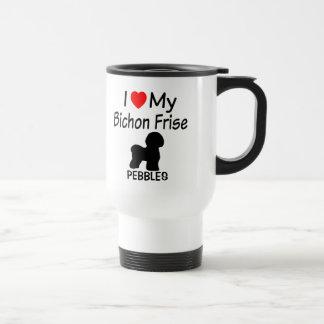I Liebe mein Bichon Frise Hund Reisebecher