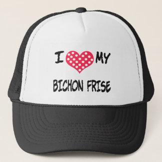 I LIEBE MEIN BICHON FRISE TRUCKERKAPPE