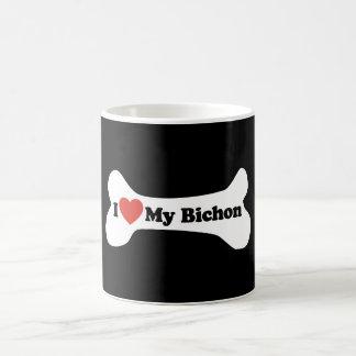 I Liebe mein Bichon - Hundeknochen Tassen