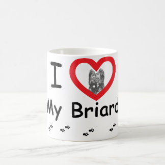 I Liebe mein Briard Kaffeetasse