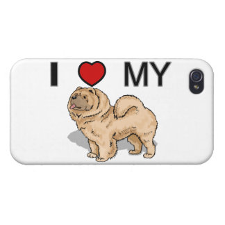 I Liebe mein Chow-Chow iPhone 4/4S Cover