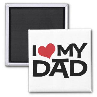 I Liebe mein der Vatertags-Magnet Vati- Quadratischer Magnet