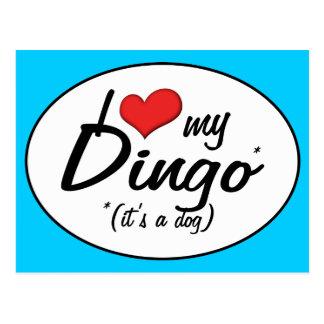 I Liebe mein Dingo (es ist ein Hund) Postkarte