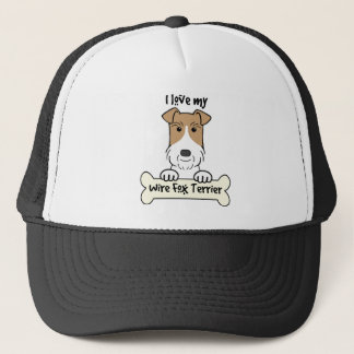 I Liebe mein Drahtfox-Terrier Truckerkappe