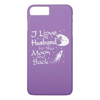 I Liebe mein Ehemann zum Mond und zur Rückseite iPhone 8 Plus/7 Plus Hülle