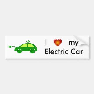 I Liebe mein elektrisches Auto-Autoaufkleber Autoaufkleber