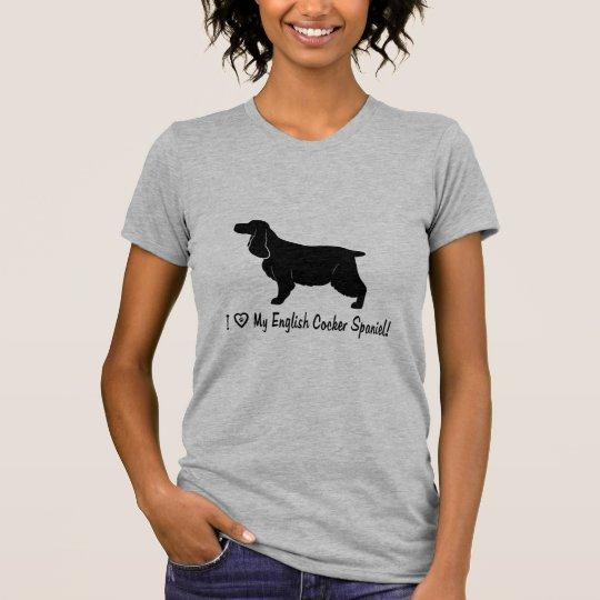 I Liebe mein englischer Cockerspaniel T-Shirt