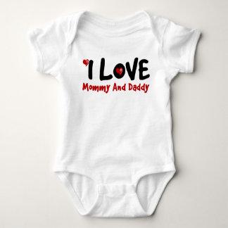 I Liebe mein Familien-Paar-Baby-Jersey-Bodysuit Baby Strampler