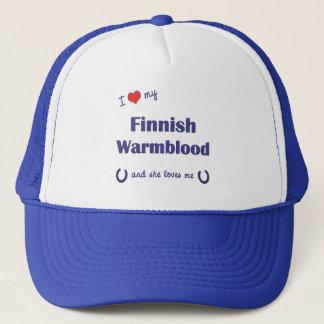 I Liebe mein finnisches Warmblood (weibliches Truckerkappe