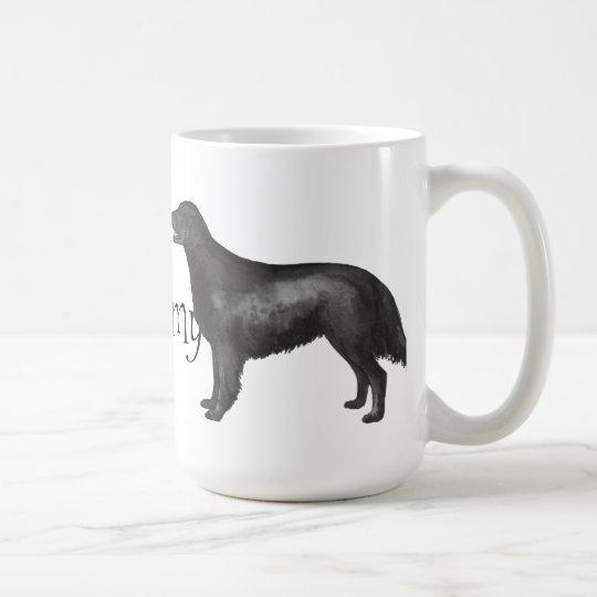 I Liebe mein Flach-Überzogener Retriever Kaffeetasse