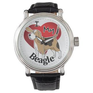 I Liebe mein glücklicher entzückender lustiger u. Armbanduhr