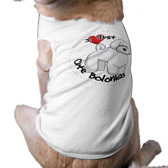 I Liebe mein glücklicher entzückender lustiger u. Ärmelfreies Hunde-Shirt