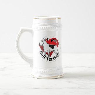 I Liebe mein glücklicher entzückender lustiger u. Bierglas