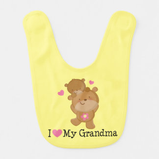 I Liebe mein Großmutter-Bärn-Baby-Schellfisch Lätzchen