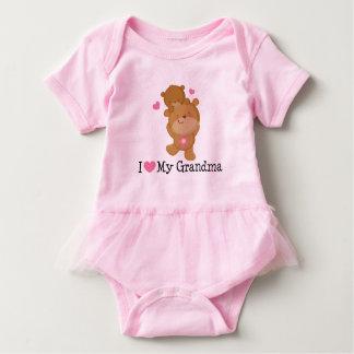 I Liebe mein Großmutterbabymädchen Tutu-T-Stück Baby Strampler