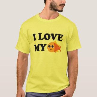 I Liebe mein Haustiergoldfish-T - Shirt
