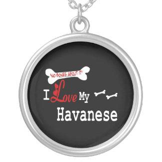 I Liebe mein Havanese Halskette Mit Rundem Anhänger