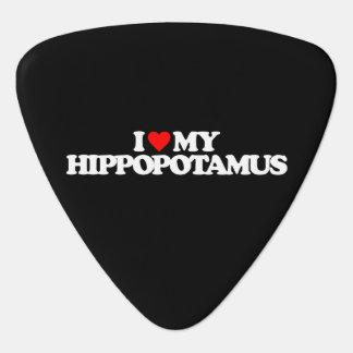 I LIEBE MEIN HIPPOPOTAMUS PLEKTRUM