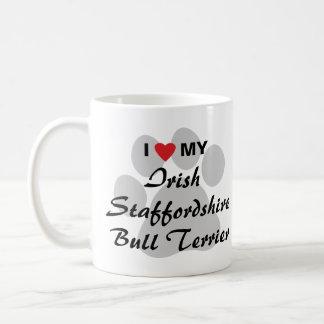 I Liebe mein irischer Terrier Staffordshires Stier Tasse