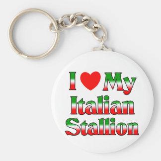 I Liebe mein italienischer Stallion Standard Runder Schlüsselanhänger