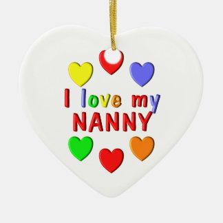 I Liebe mein Kindermädchen Keramik Herz-Ornament