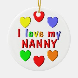 I Liebe mein Kindermädchen Rundes Keramik Ornament