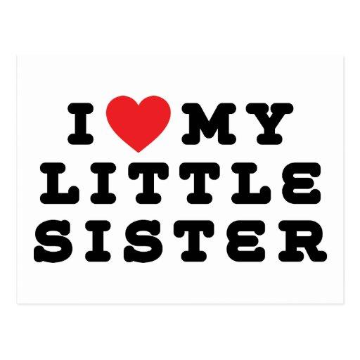 I Liebe mein kleine Schwester-Geschenk Postkarte