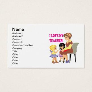 I Liebe mein Lehrer Visitenkarte