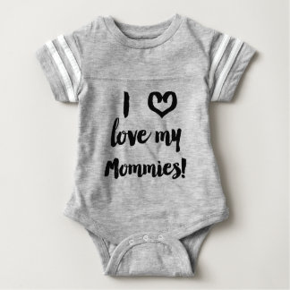 I Liebe mein Mama-Baby-Jersey-Shirt Baby Strampler